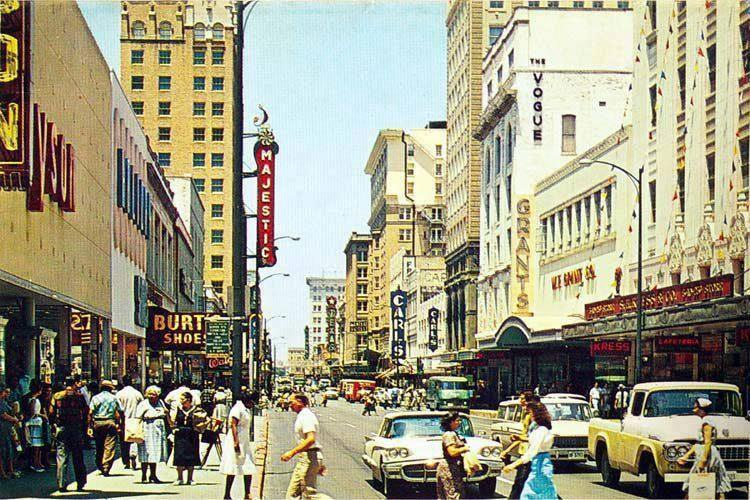 View of the Majestic Theatre in the 1950's
